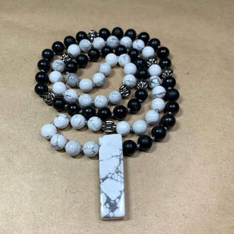 Shungite Howlite Necklace